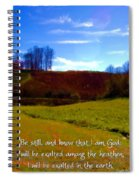 Psalm 46 10 Spiral Notebook