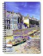Psychedelic Bruges Canal Scene Spiral Notebook