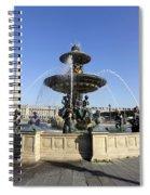 Public Fountain At The Place De La Concorde In Paris France Spiral Notebook