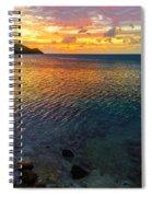 Purple And Orange Sunset Spiral Notebook