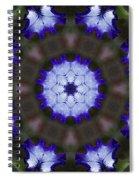 Purple Iris Kaleidoscope Spiral Notebook