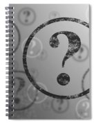 Question Mark Background Bw Spiral Notebook