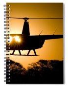 R44 Sunset Spiral Notebook
