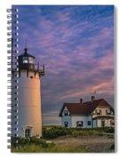 Race Point Lighthouse Sunset Spiral Notebook