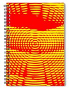 Radial Sunset Spiral Notebook