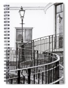 Railings And Lamp Spiral Notebook