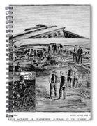 Railroad Accident, 1887 Spiral Notebook