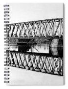 Railroad Bridge Red River Spiral Notebook