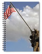 Raising The American Flag Spiral Notebook