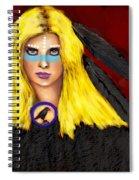 Raven Yellow Hair Spiral Notebook