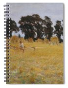 Reapers Resting In A Wheat Field Spiral Notebook