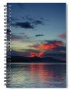 Red Clouds Spiral Notebook