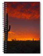 Red Desert Skies  Spiral Notebook