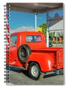 Red Dodge Pickup Truck Parked In Front Spiral Notebook