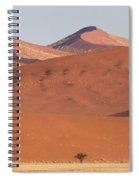 Red Dunes, Sossusvlei, Namib Desert Spiral Notebook