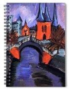 Red Elisabeth Riverbank Berlin Spiral Notebook