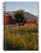 Red Farm Spiral Notebook