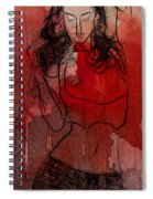 Red Is The Color Of Love Spiral Notebook