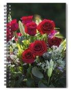 Red Rose Romance Spiral Notebook