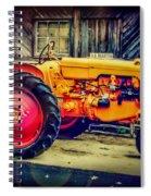 Red Wheels Spiral Notebook