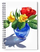 Red Yellow And Blue Spiral Notebook
