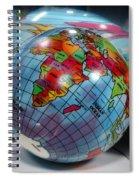 Reflected Globe Spiral Notebook