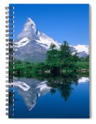 Reflection Of A Snow Covered Mountain Spiral Notebook
