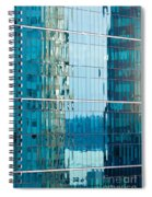 Reflections In Modern Glass-walled Building Facade Spiral Notebook