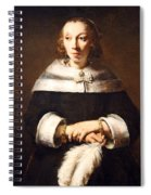 Rembrandt's Portrait Of A Lady With An Ostrich Feather Fan Spiral Notebook