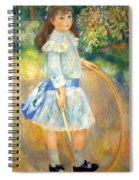 Renoir's Girl With A Hoop Spiral Notebook