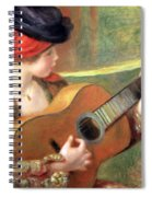 Renoir's Young Spanish Woman With A Guitar Spiral Notebook