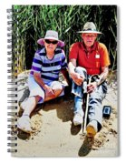 Rest Stop At Coorong Spiral Notebook