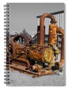 Retired Petroleum Pump Spiral Notebook