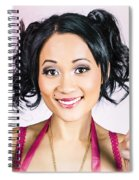Retro Asian Girl Gesturing Peace Love And Hope Spiral Notebook