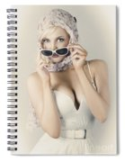 Retro Pin-up Girl In Classic Fashion Style Spiral Notebook
