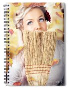 Retro Pinup Girl Doing Spring Clean Spiral Notebook