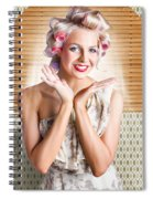Retro Woman At Beauty Salon Getting New Hair Style Spiral Notebook