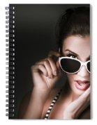 Retro Woman In Early Twenties Expressing Shock Spiral Notebook