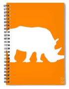 Rhino In Orange And White Spiral Notebook