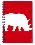 Rhino In Red And White Spiral Notebook
