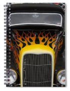 Riding The Flame Spiral Notebook