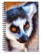 Ring Tailed Lemur Spiral Notebook
