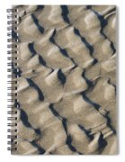 Ripple Pattern On Mudflat At Low Tide Spiral Notebook