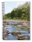 River Flowing Through Rocks, Black Spiral Notebook