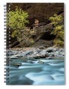 River Flowing Through Rocks, Zion Spiral Notebook