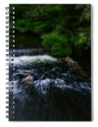 River Wye Waterfall - In Bakewell Peak District - England Spiral Notebook