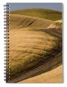 Road Through Wheat Field Spiral Notebook