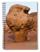 Rock Formations In A Desert, Vermilion Spiral Notebook