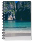Rock Formations In The Sea, Phi Phi Spiral Notebook