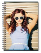 Rockabilly Greaser Pin-up. 50s Drive-in Culture Spiral Notebook